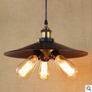 все цены на Retro Loft Style Edison Vintage Pendant Lamp Industrial Lighting With 3 Lights 180W,Lustres De Sala Teto