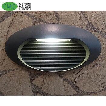 Envío Gratis, luz LED blanca cálida para exteriores, lámpara para jardín, pared, balcón, pasillo, luz de pared Exterior, luz impermeable para porche