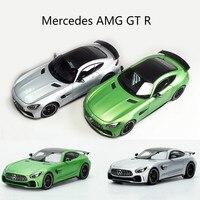 Высокое моделирование 1:18 Mercedes бензамид GTR автомобиль из литого металла игрушка двери автомобиля можно открыть подарки для детей мальчик иг