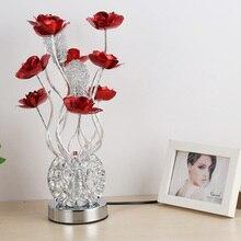 Lámpara de mesa moderna para dormitorio, lámpara de noche moderna, breve regalo de bodas de moda, lámpara de mesa rústica, lámpara de decoración para el hogar