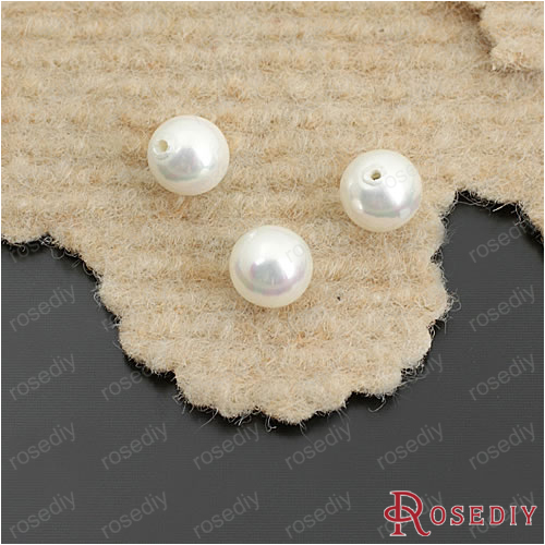 Wholesale Diameter 4mm 5mm 6mm 8mm 10mm 12mm Round White Imitation Pearl made of Natural Shell Half Drilled Beads (JM5869) wholesale 100 pcs button black freshwater pearl half hole drilled q30159 1