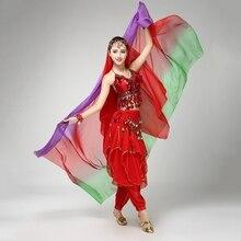 Belly Dance Veil 220cm*120cm Silk-like Bollywood Dancing Scarf Shawl 6Colors цена в Москве и Питере