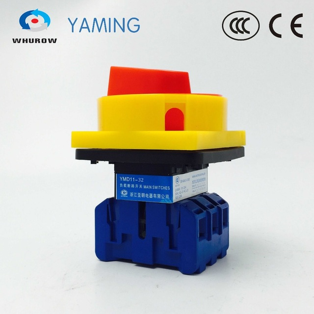YMD11-32 3P Load break switch manual isolator disconnecting switch high voltage high quality 32A on-off padlcok switchYMD11-32 3P Load break switch manual isolator disconnecting switch high voltage high quality 32A on-off padlcok switch