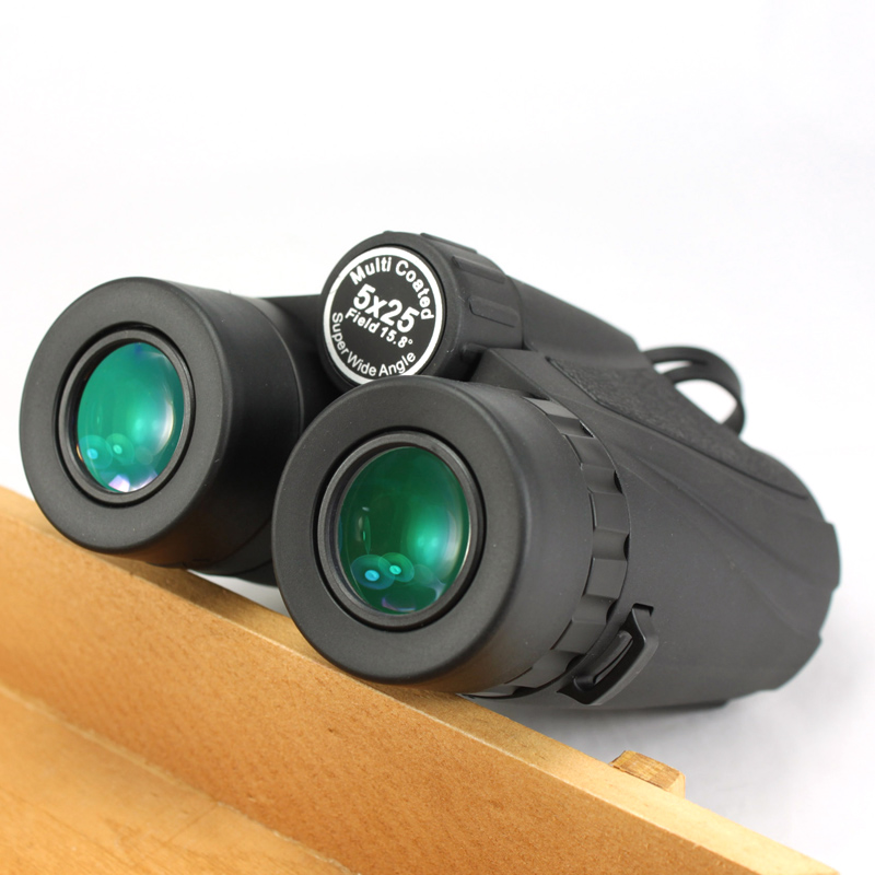 GOMU 5X25 HD Wide Angle BAK4 Prism binoculars telescope fogproof with green film for Hunting Tourism Telescope Free shipping  цены