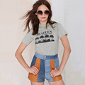 2016 Summer New Fashion Women Casual Letters Printed the Beatles Punk Cotton T-shirt Shirt Tee Tops for Women Clothing Plus Size
