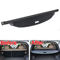 BBQ@FUKA 1pc ABS Plastic Aluminium Rear Trunk Shade Cargo Cover Trim Fit For Ford Edge 2011 2013 Low equipped Model Accessories