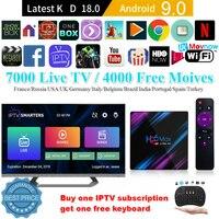 TTVBOX New H96 MAX Android 9.0 TV Box IPTV 2G/16G 4G/64G RK3318 Quad Core 2.4G/5G WiFi Bluetooth 4.0 4K HD Android Set Top Box