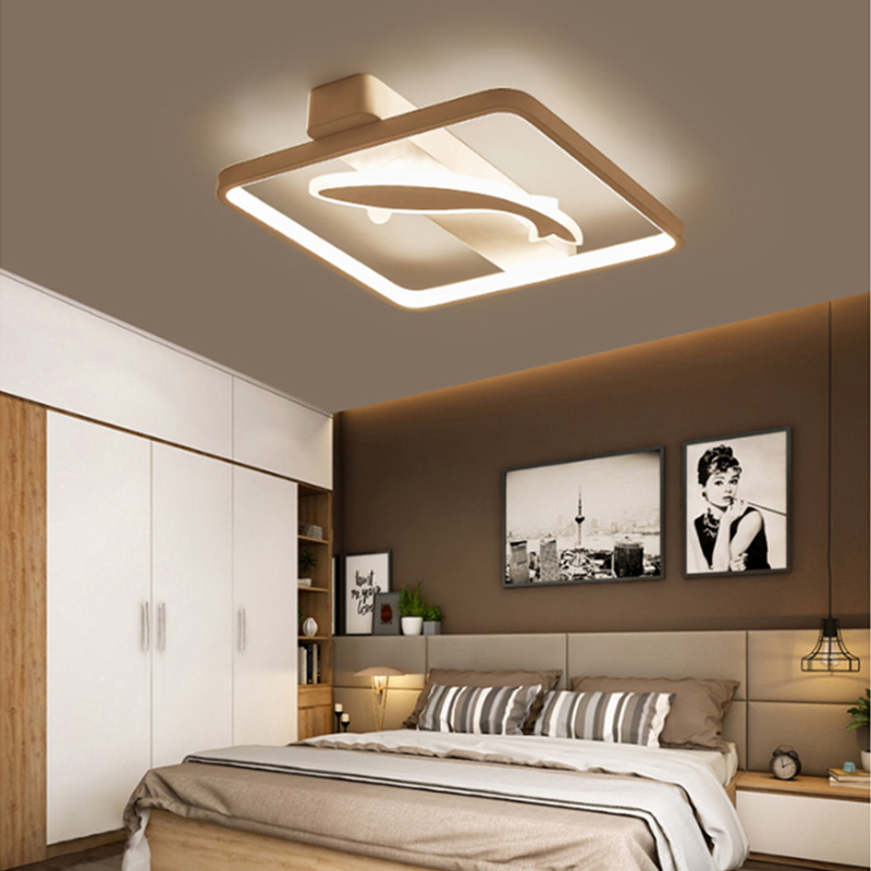 Ceiling Lights LED Lamp For Living Room Bedroom Study Room Home Deco AC85-265V Modern White Brown surface mounted Ceiling LampCeiling Lights LED Lamp For Living Room Bedroom Study Room Home Deco AC85-265V Modern White Brown surface mounted Ceiling Lamp