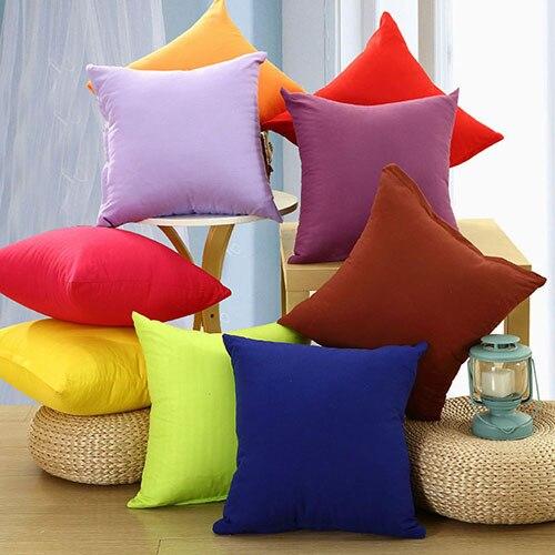 Simple Fashion Square Throw Home Decorative Case Waist Cushion