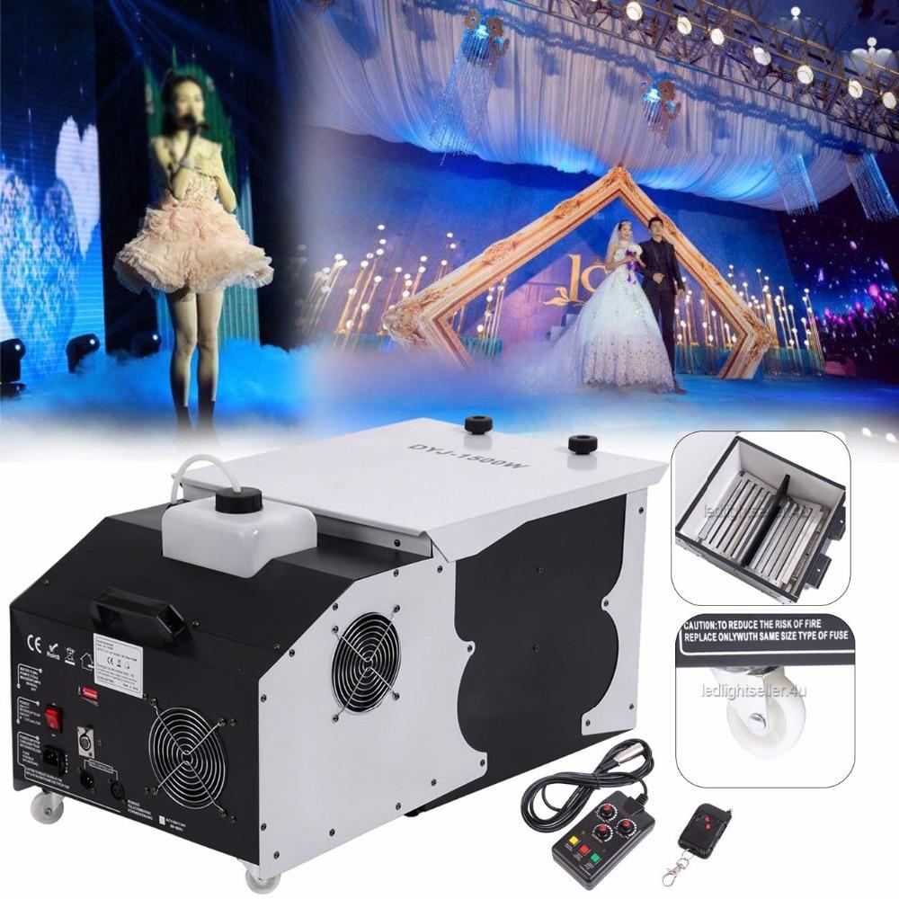 (Ship from Germany) 1500W Low Lying Floor Emitter Smoke Fog Machine Wedding Dance DJ Stage Party Rauch Nebelmaschine