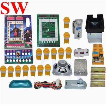 Mario game cabinet parts PCB board DIY kits Mario slot game machine with power supply coin hopper push button coin acceptor wire