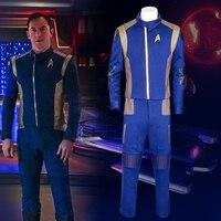 Для Star Trek обнаружения командир равномерное Косплэй новый костюм Звездного Флота USS обнаружения капитан Георгиу/Лорка duty наряд Косплэй