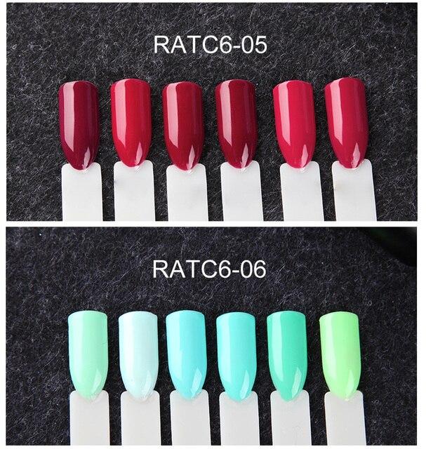 (6PCS/LOT) ROSALIND 7ML Gel Nail Polish Set Of Nails UV Soak Off Long Lasting Pure Colors Varnish Gel For Nail Art DIY Manicure 3
