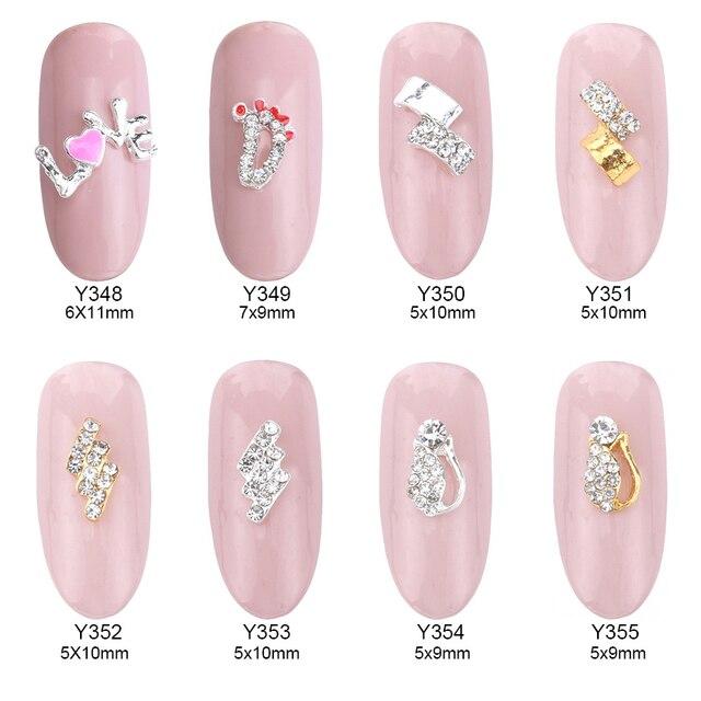 10pcs nail strass crystals unas alloy 3d nail art decorations ...