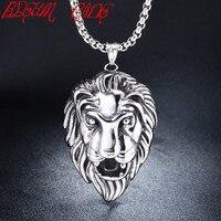 BLEUM CADE Wholesale Accessories Charm Fashion Men Jewelry Punk Style Color Lion Head Pendant Stainless Steel
