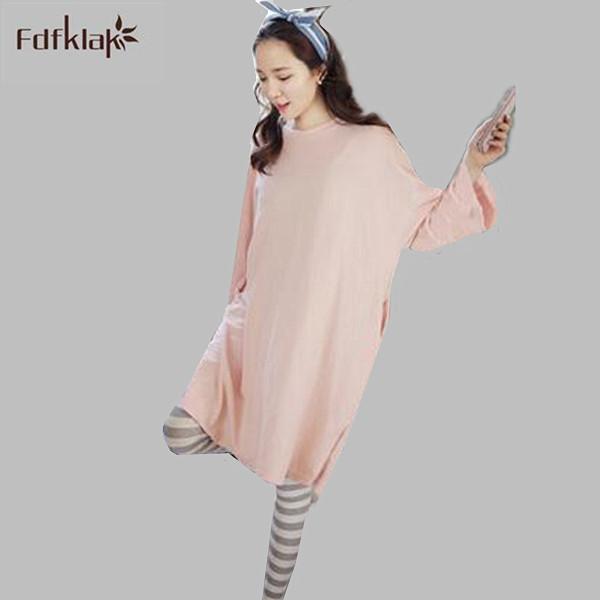 Estilo coreano mulher conjunto de pijama de algodão 2017 novas mulheres pijama mais tamanho pijamas outono inverno pijama femme M L XL XXL 3XL S0010