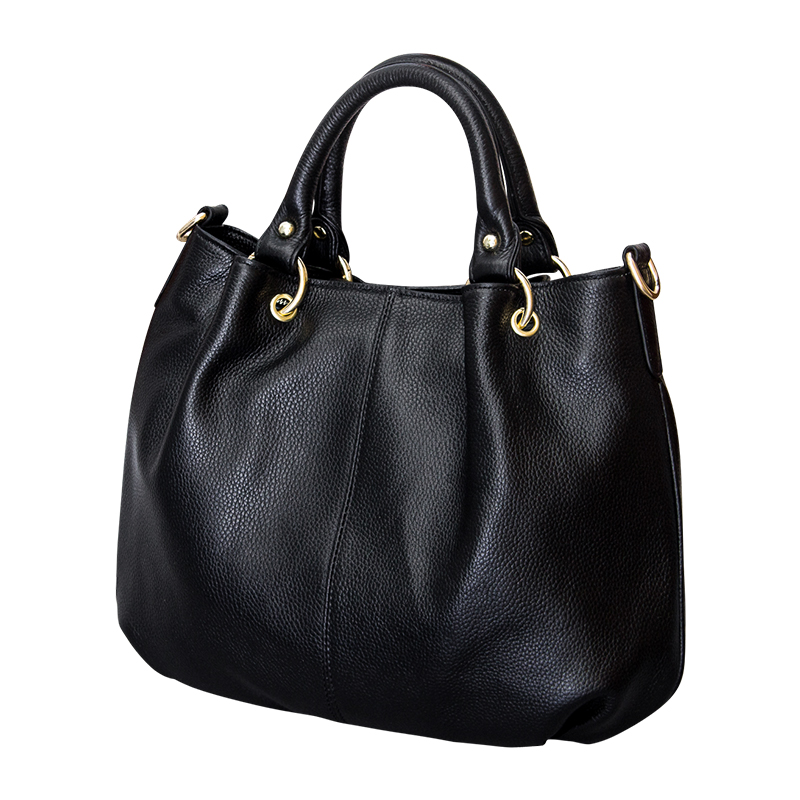 2018 Brand PASTE Natural Cowhide Women Handbag 100 Real Leather Ladies Big Shoulder Bag Classical Hobo