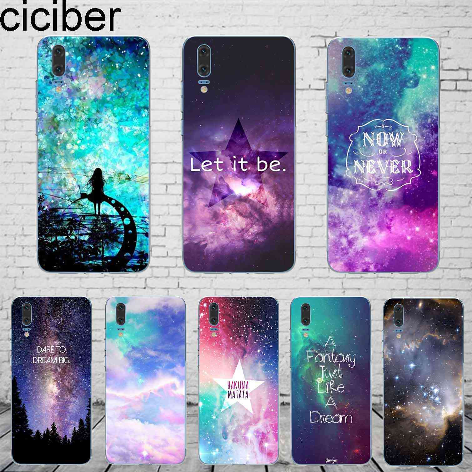 ciciber Northern Lights For Mate 20 10 9 Lite Pro X 2017 Fundas For Huawei P 20 10 9 8 Pro Lite Plus Phone Case SiliconeTPU Capa