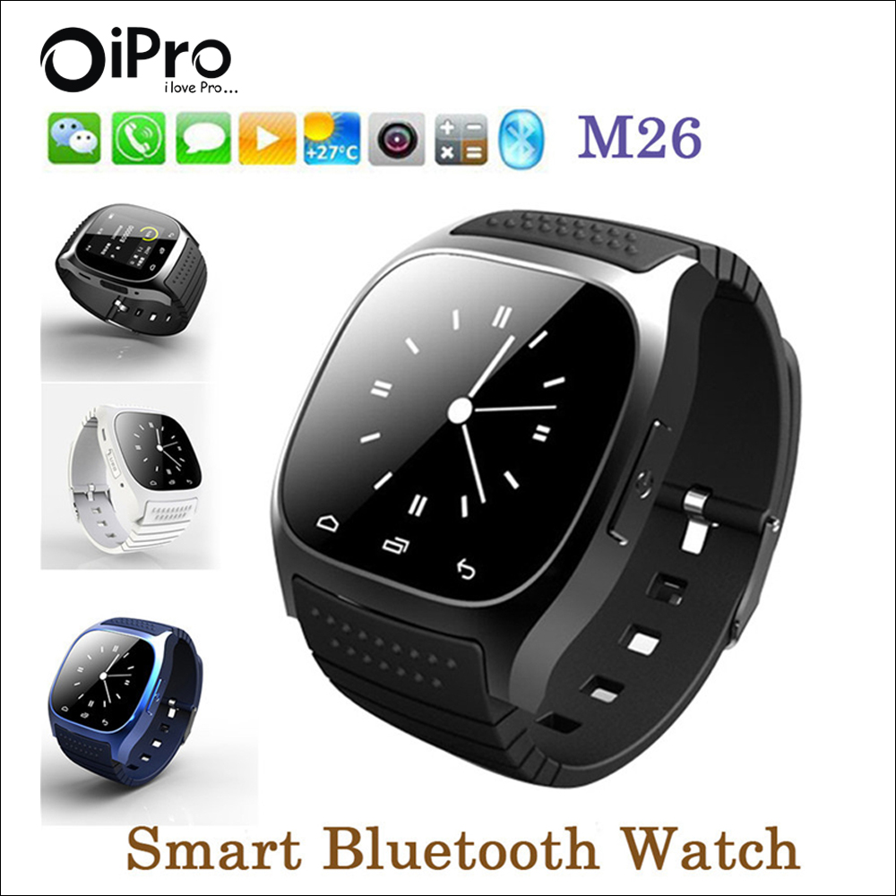 Bluetooth Smart Watch Android font b Smartwatch b font M26 with LED Barometer Alitmeter Pedometer for