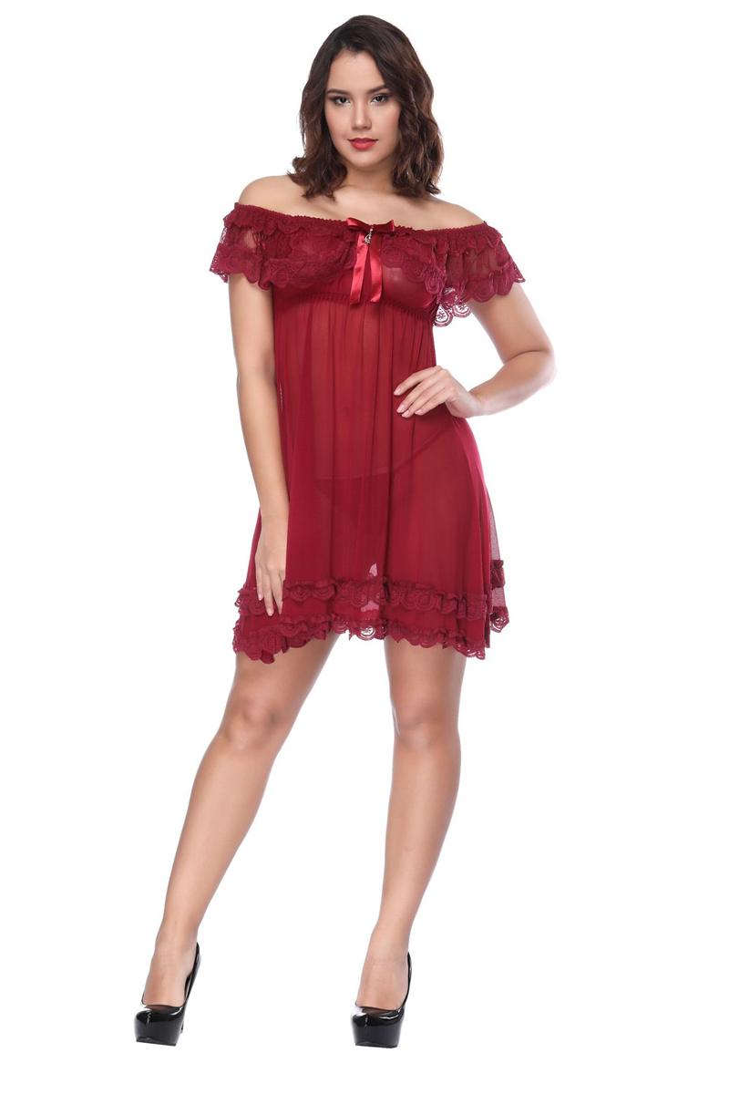 High Quality <font><b>Sexy</b></font> Lace Plus Size Babydoll <font><b>Lingerie</b></font> Strapless Transparent Sleepwear <font><b>Tallas</b></font> <font><b>Grandes</b></font> <font><b>Sexy</b></font> Girls Women <font><b>Lingerie</b></font> image