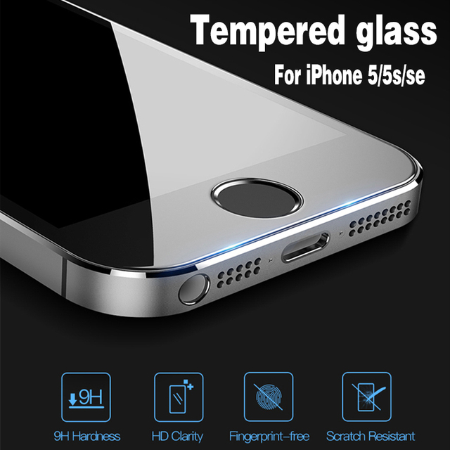 for glass on iphone 5s protective glass for iPhone 5s Scratchproof Explosion-proof screen for iphone se glass 9H HD tempered