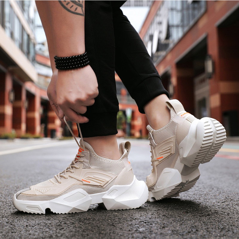 Hot Sale Running Shoes For Men Breathable Men Shoes Yeezys Air 350 Boost Footwear Thick Bottom Non slip Schoenen Men Sneakers in Running Shoes from Sports Entertainment