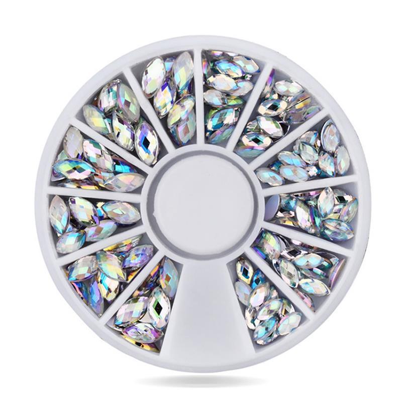 DIY AB elipse Acrílico olho do Cavalo de Cristal Prego Brilho Strass Unhas decorações da arte do prego Ferramentas de Maquiagem