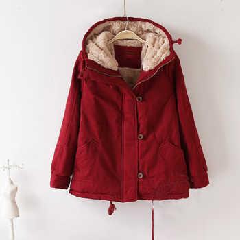 Winter Hooded Lamb Fur Warm Parkas Jacket Women Plus Size Winter Clothe For Women Coat Warm Jaqueta Feminina Large Size Coat