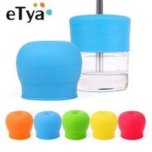 ETya 1 шт., силиконовая соломенная чашка для перелива, крышка для питьевой воды, 5 цветов, Детские противопролитые питьевые инструменты для малышей, посуда для напитков