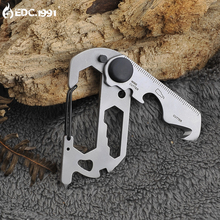 EDC mini portable gadgets multi-functional outdoor camping carabiner creative key ring seat belt knife tools