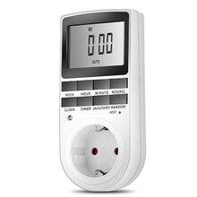 Programmable Timing Socket Digital Timer Switch Kitchen Timer Outlet 230V 50HZ 7 Day 12/24 Hour EU/US Plug