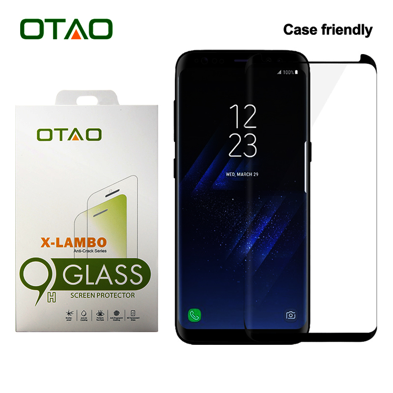 font b OTAO b font Case Friendly 3D Curved Full Cover Tempered Glass Screen Protector