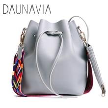 DAUNAVIA женская кожаная сумка на плечо с модным ремешком роскошные сумки женские сумки дизайнерские сумки через плечо для женщин