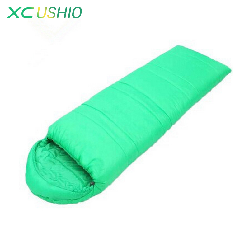 ФОТО New brand high quality autumn&winter thermal cotton outdoor adult thick sleeping bag envelope type camping sleeping bags
