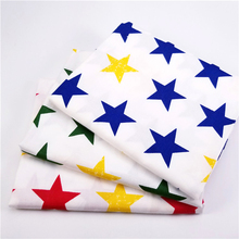 Stars 100% Twill Cotton Fabric by Meters for Patchwork Quilting Baby Bedding Blanket Sewing Cloth Material 3pcs/lot 50x160cm