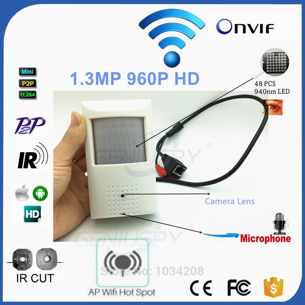 PIR Стиль детектор движения HD 960 P Беспроводной IP Камера Wi-Fi видеонаблюдения сети микрофон Audio Поддержка Android iPhone P2P Onvif camHi