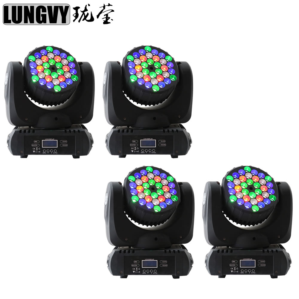 Free Shipping 4pcs/Lot China Led Stage Lighting 36x3w LED Moving Head Beam For Stage DJ Disco Nightclub Bar
