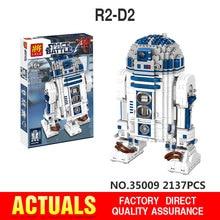 NOWA Seria Lele 35009 Prawdziwa Gwiazda Wojny, Robot R2-D2 Zestaw Wyczerpany Klocki Klocki Zabawki 10225