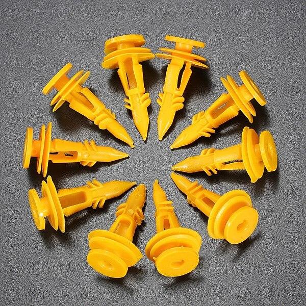 10 ШТ. Хвост Дверь Обшивка Клипы Фиксатор для Jeep/Grand/Cherokee 6502991 Желтый