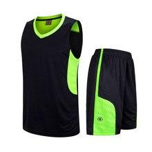 2017 Новых Мужчин трикотажные изделия баскетбола одежда наборы джерси шорты баскетбол clothing Тренировочные брюки Костюм DIY Пользовательское Имя Номер