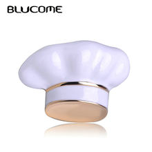 Blucome New Arrival Chef Hat Shape Brooch White Enamel Corsage Women Men Kids Brooches Chef Waiter Pins Hats Sweater Accessories(China)