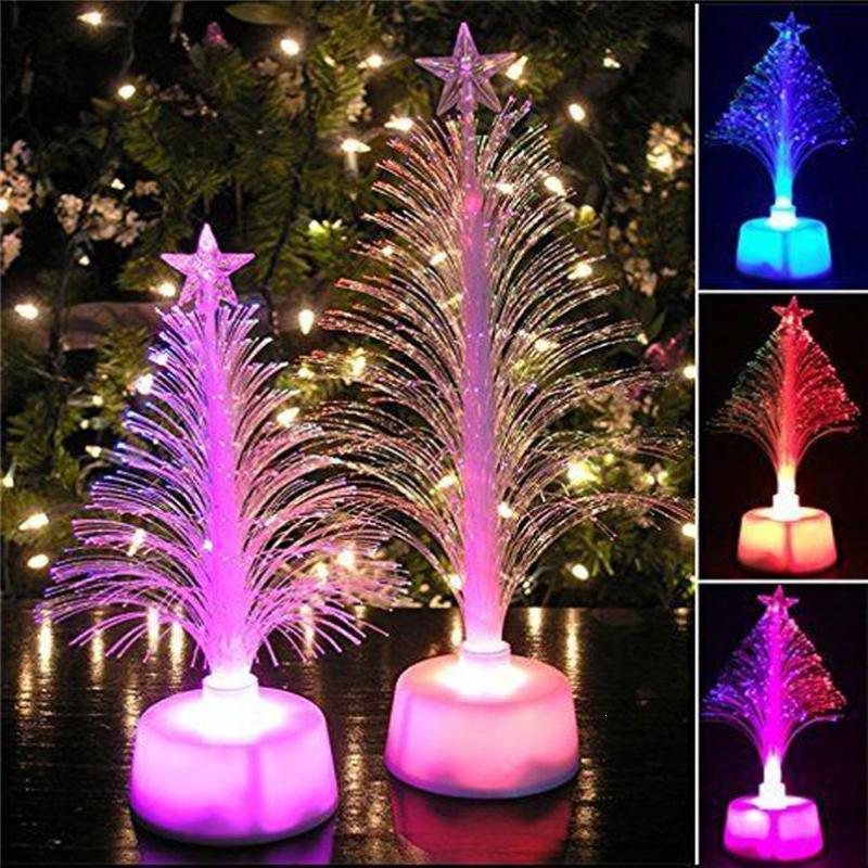 led color changing christmas tree small glowing xmas tree home table desk ornaments craft led lamp christmas decoration kid gift