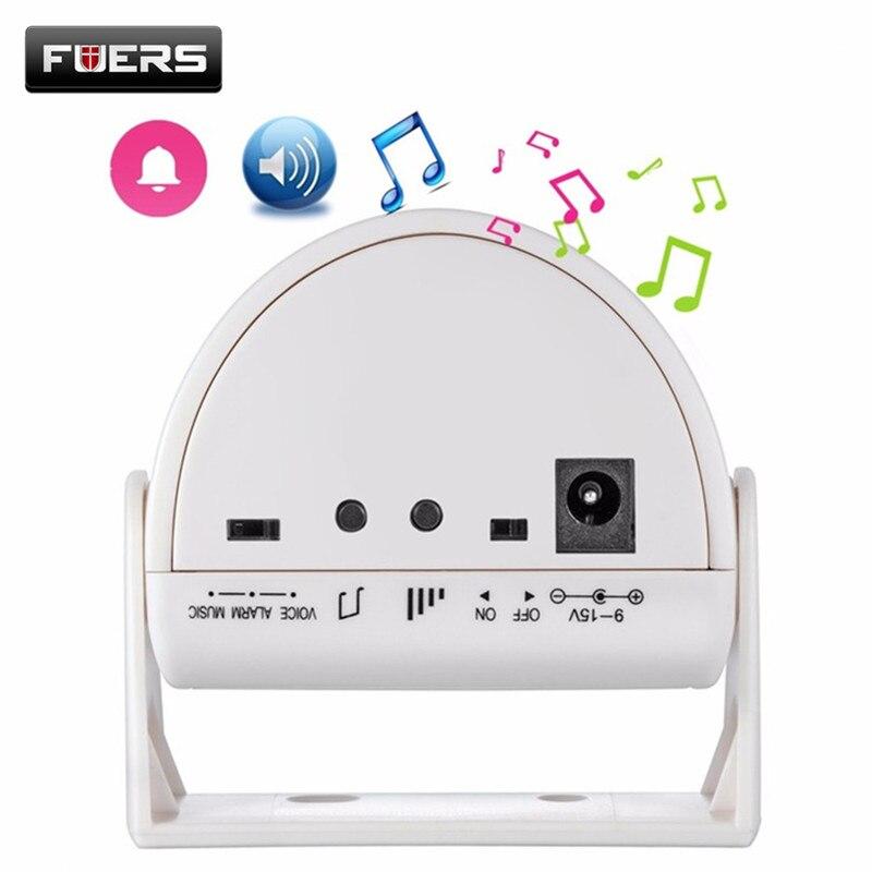 Fuers Wireless Intelligent Greeting Doorbell Welcome Infrared Motion Sensor Warning Door Bell Alarm Welcome Chime Door Bell mool welcome chime door bell motion sensor wireless alarm