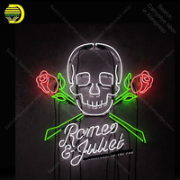 Neon Sign for Shakespeare in the Pub Romeo Rose Neon Bulb Sign lamp Display Beer Bar Light up wall sign Neon Sign for Room