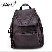 Wanu магазин Брендовая Дизайнерская обувь женский рюкзак Для женщин Высокое качество кожаный рюкзак американской моды Bagpack Школьный Сумки