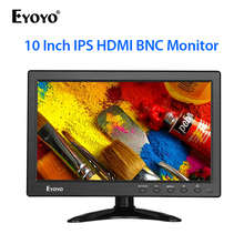 Eyoyo 10 inch 1366x768 IPS LCD Screen Display HDMI TV Monitor Portable HDMI/VGA/AV Input Remote Control computer monitor vga hdmi av tv interface 15 inch metal shell non touch open frame industrial and household use lcd monitor display