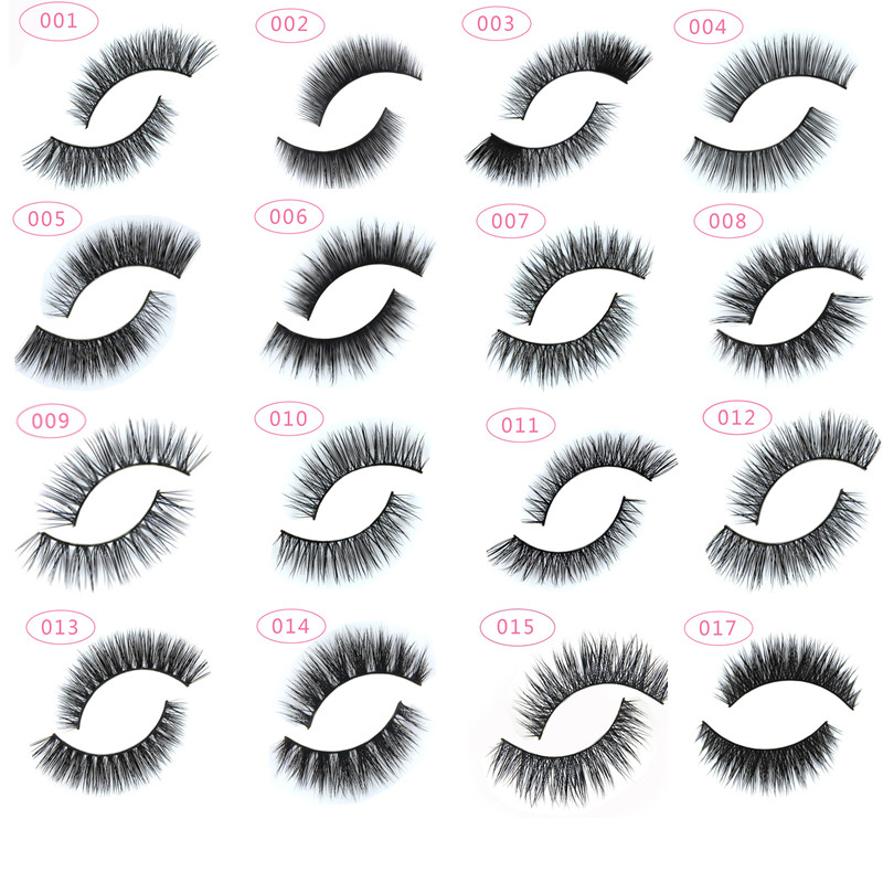13 types 1 pair Natural False Eyelashes Fake Lashes Long ...