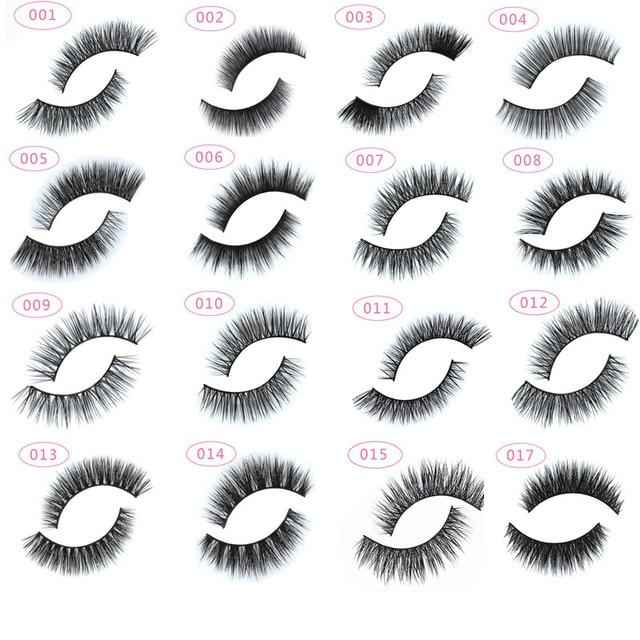 13 types 1 pair Natural False Eyelashes Fake Lashes Long