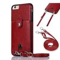 Haissky Vintage PU En Cuir Dos Cas pour iPhone Xs Max XR X Portefeuille Carte Cas pour iPhone 6 6 S 7 8 Plus Cas Avec Sangle