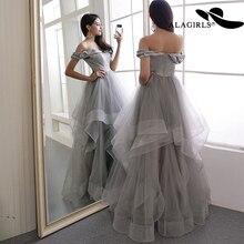 Alagirls 2019 New Arrival A Line Evening Dress Elegant Off The Shoulder Gowns Party dress Vintage Prom Dresses